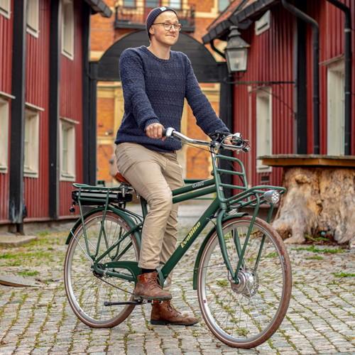 Elcykel EvoBike Classic-7 Long Range 2021 - Olivgrön, Herr