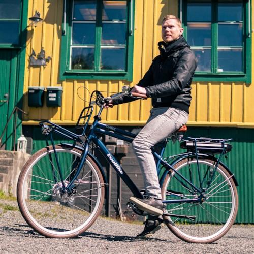 Elcykel EvoBike Classic-7 Long Range 2021 - Blå, Herr