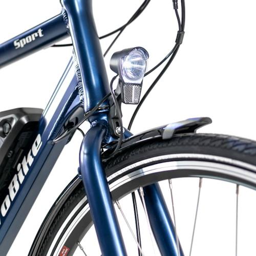 Elcykel EvoBike SPORT-8 Mid-Drive 250W - Midnattsblå, herr