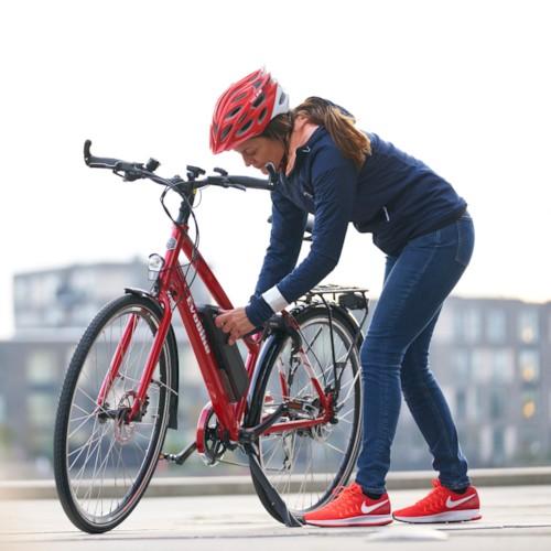 Elcykel EvoBike Sport-8 250W Long Range 2021 - Röd, Dam