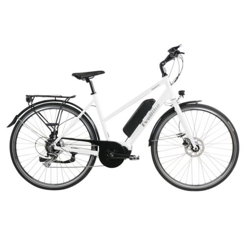 Elcykel EvoBike Sport-8 Mid-Drive 250W Long Range 2021 - Vit, Dam