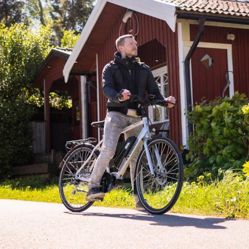Elcykel EvoBike Sport-8 Mid-Drive 250W Long Range 2021 - Silver, Herr