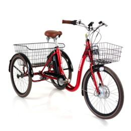 FYNDEX - Trehjulig Elcykel Evobike Elegant 250W 2020  Röd
