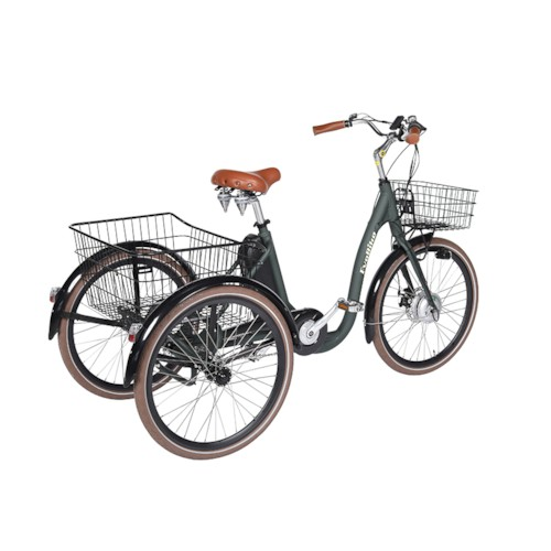 FYNDEX - Trehjulig Elcykel Evobike Elegant 250W 2020 -Olivgrön