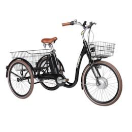 FYNDEX -  Huvudlåda Trehjulig Elcykel Evobike Elegant 24 tum 250W 2020 - Svart