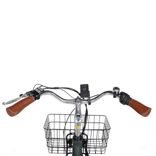 FYNDEX -  Trehjulig Elcykel Evobike Elegant 250W 2020 - Olivgrön
