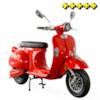 Elmoped Viverra Classic 2000W - Röd