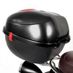 Packbox svart - Elmoped Viverra Classic