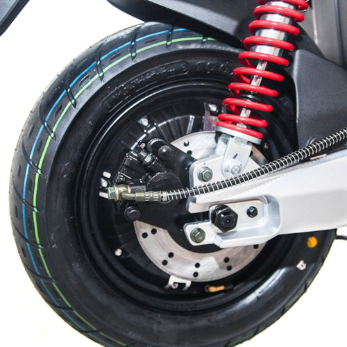 Elmoped Viverra Evolite E3 1200W - Svart/röd