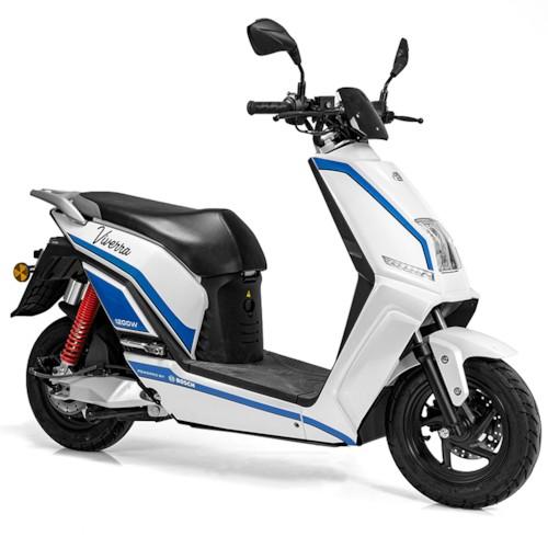 Elmoped Viverra Evolite E3 1200W - Vit/blå