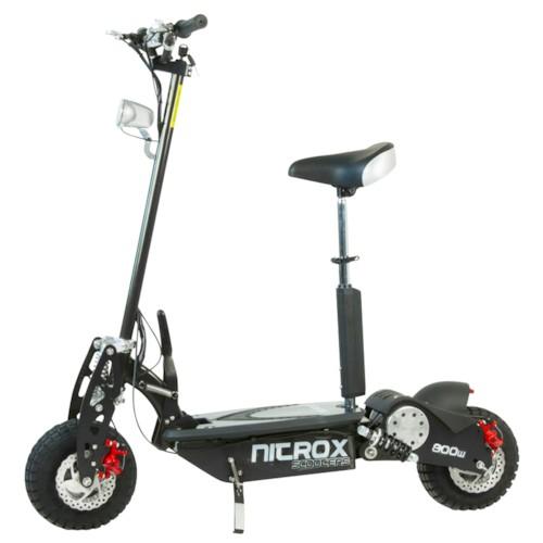 Elscooter 800 W Dirt med lysen - SVART