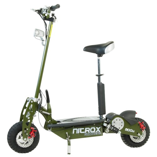 Elscooter 800 W Dirt med lysen - ARMY GREEN