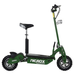 Elscooter 1000 W 48V Dirt med lysen - ARMY GREEN