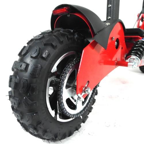 Elscooter 1000 W 48V Dirt med lysen - VIT