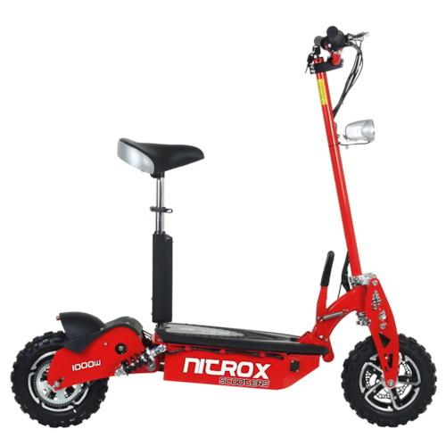Elscooter 1000 W 48V Dirt med lysen - RÖD