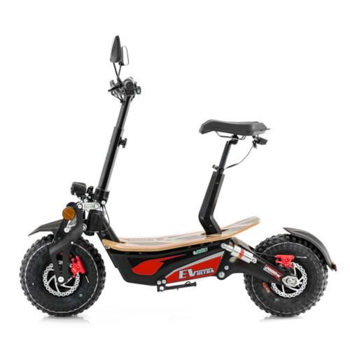 Elscooter EV-Ultra 2000W - Svart/röd
