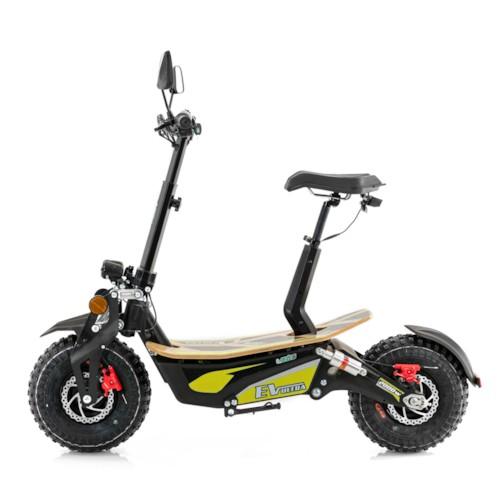 Elscooter EV-Ultra 2000W - Svart/gul