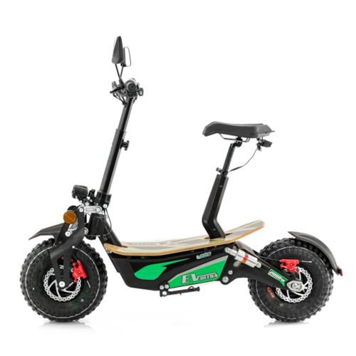 Elscooter EV-Ultra 2000W - Svart/grön