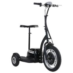 Trehjulig scooter Trigger, 500W - Svart