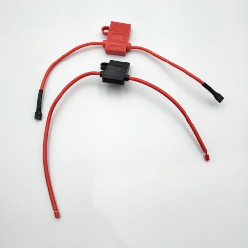 Säkringshållare med kabel, flatstiftssäkring