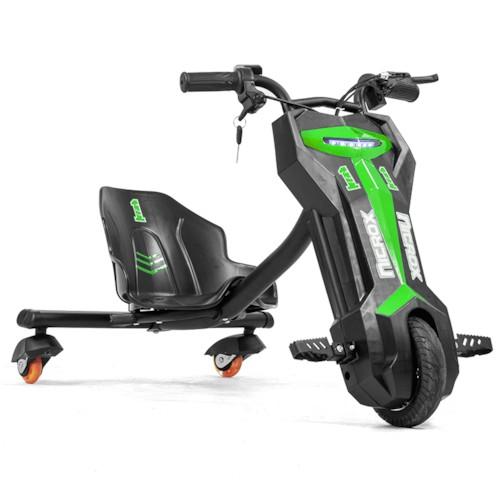 Elscooter Drift Trike 200W Lithium - Grön