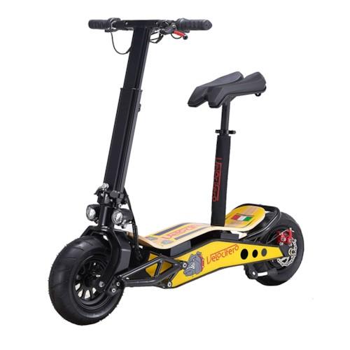 Elscooter Velocifero Minimad 800W lithium - Gul/svart