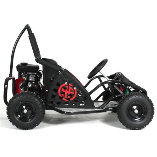 Go Kart 80cc, bensin - Svart