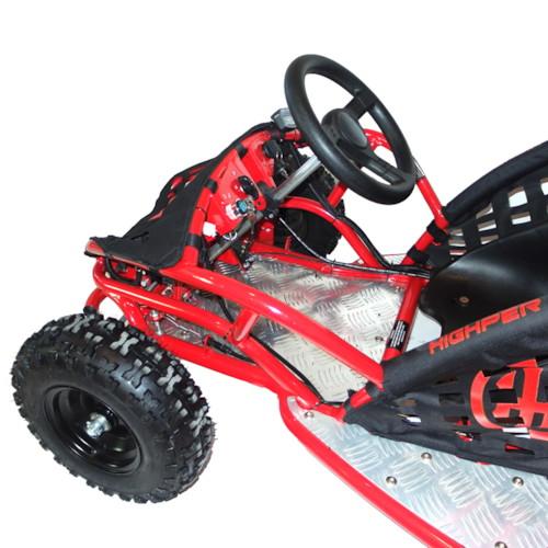 GoKart 80cc, bensin - Röd/Svart