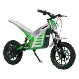 Elektrisk Dirtbike Nitrox Trial 1000W med sits - Vit/grön