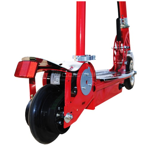 Elscooter 120 W med sadel - RÖD