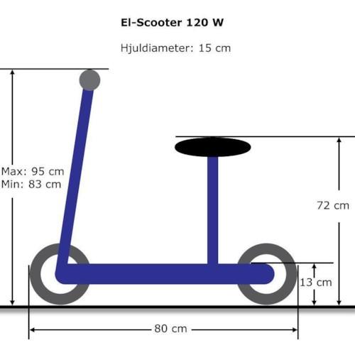 Elscooter 120W med sadel - BLÅ