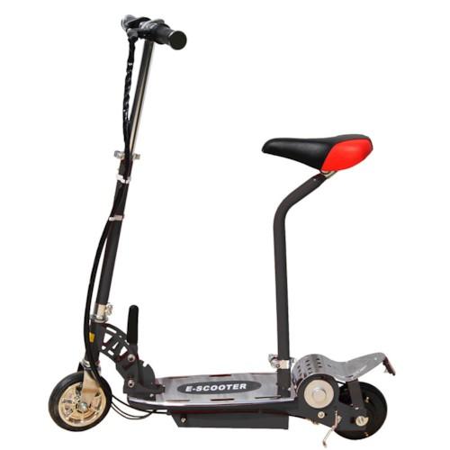 Elscooter 120W med sadel - SVART