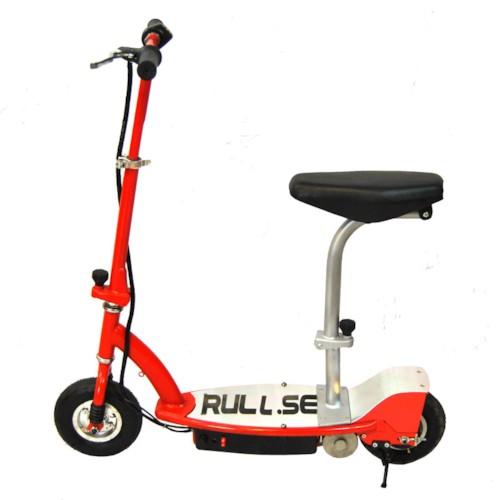Elscooter 150W med sadel - RÖD