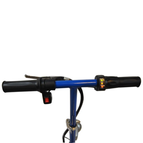 Elscooter 350 W med sadel - BLÅ