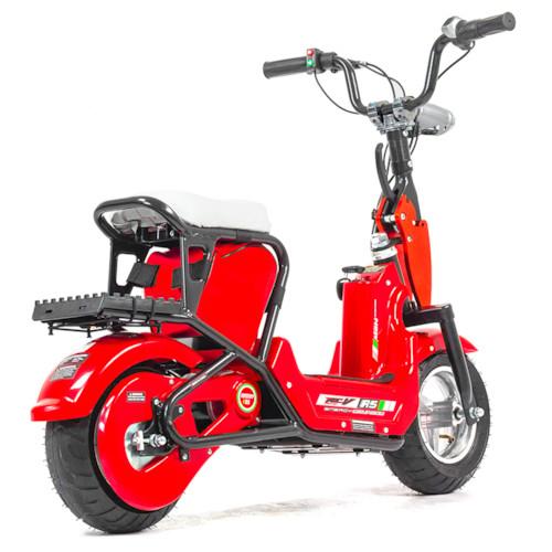 Elscooter 350 W CHOPPER - Röd
