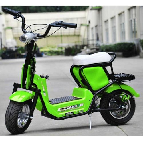 Elscooter 350 W CHOPPER med lysen - Grön