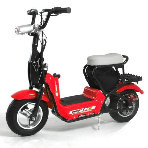 Elscooter 350 W CHOPPER med lysen - Röd