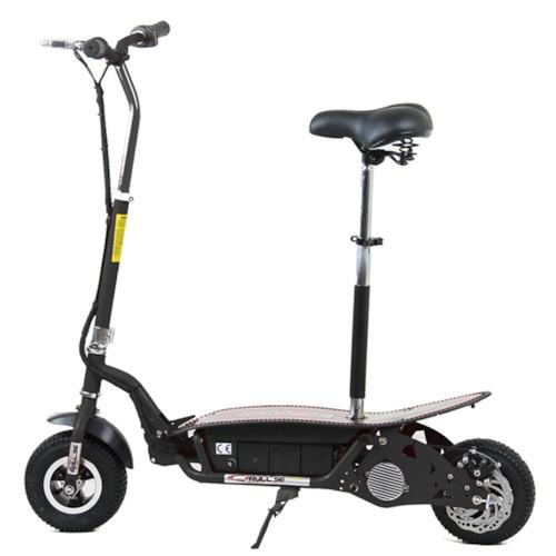 Elscooter 500 W EXTREME med sadel - Svart