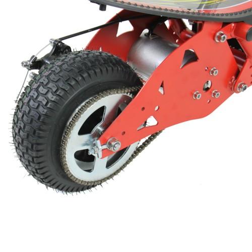 Elscooter 500 W EXTREME med sadel - Röd