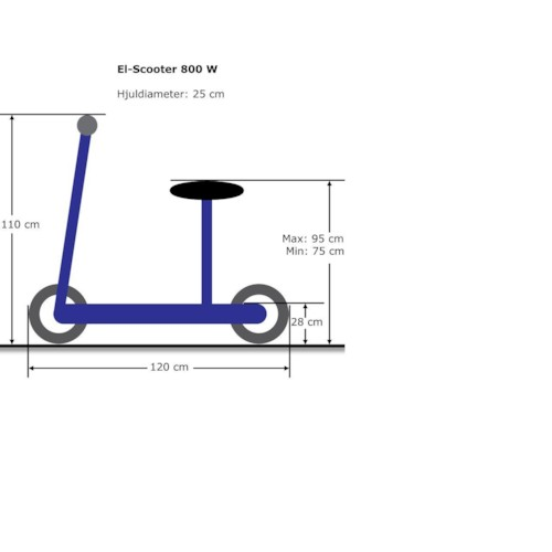El-scooter 800 W EcoDrive Svart - UTGÅTT