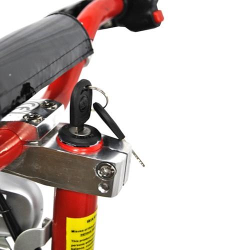 El-scooter 1000 W 48V med träplatta - RÖD