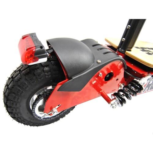 El-scooter 1000 W 48V med träplatta - BLÅ