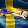 Hoverboard AirBoard PRO 2x350W - Blågul 2016 Edition