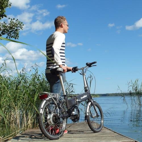 Elcykel EvoBike Travel, Hopfällbar 2014-2016 - Svartmetallic