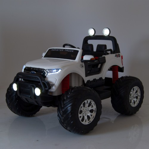 Elbil Ford Ranger Monster Truck 4WD 12V Media Edition - Vit