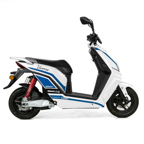 Elmoped Evolite E3 1000W Klass II - Vit/blå