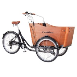 Elcykel Lådcykel EvoBike Panda, 250W