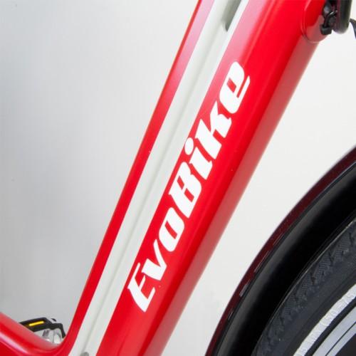 Elcykel EvoBike ECO-3 250W 2017-2018 - RÖD/LJUSGRÅ, dam