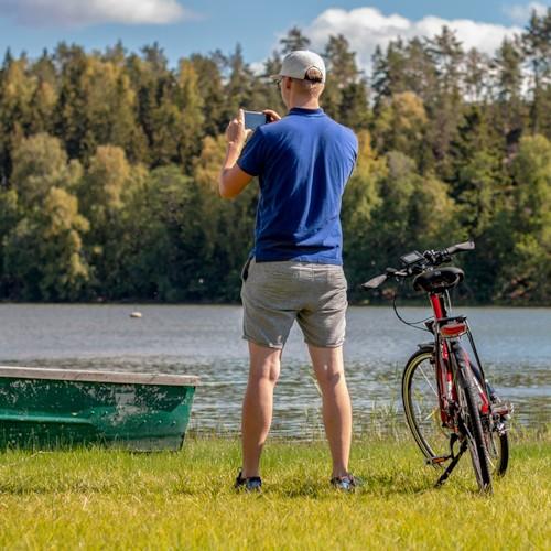 Elcykel EvoBike SPORT-8 500W 2017-2018 - VIT/BLÅ, dam