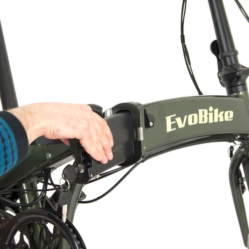 Elcykel EvoBike Travel, Hopfällbar 2018 - Olivgrön